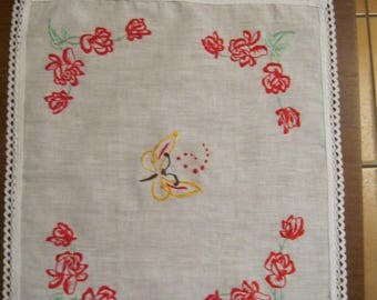 Place mat motive red rose cluster (17)
