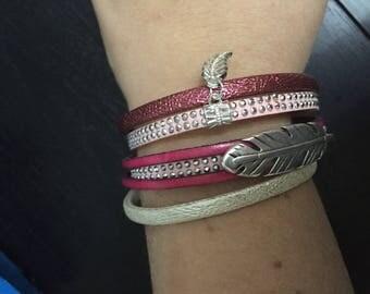 Multi strand women Cuff Bracelet