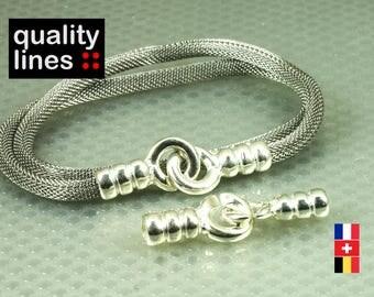 Clasp hole 5mm round silver plated zamak cuffs