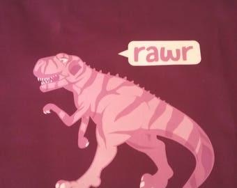 Dino Rawr -Violet