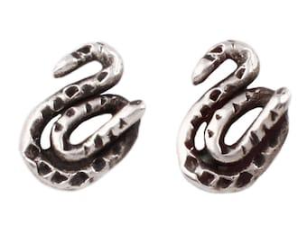 Sterling Silver Baby Snake Stud Earrings