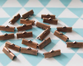 Set of 20 caps claw 13 mm for MULTISTRAND bracelets, copper