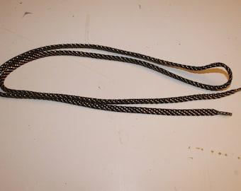 black gold shoelace shiny 115cm