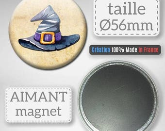 Magnet Magnet gift party Badge 56 mm witch Hat Halloween