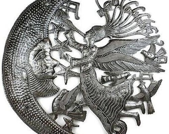 Angel and Moon Metal Art