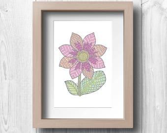 Dahlia Flower - Printable Wall Art