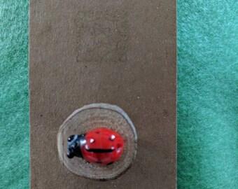 Cute ladybug pin brooch
