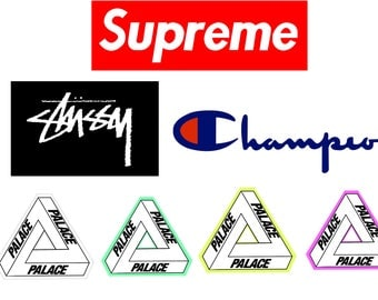 Famous Fashion Brands Stickers