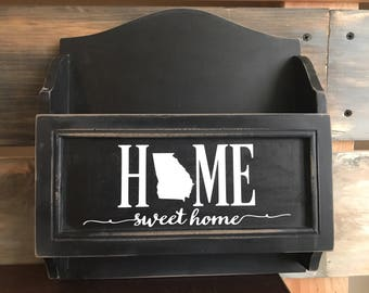 Home Sweet Home State Decal,Home sign,Home sweet home sticker,Vinyl decals,Home decor,Home decal,Welcome home,DIY projects,hometown,states