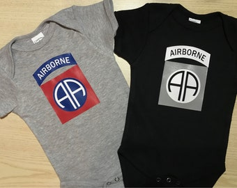 Airborne Baby Onesie,Airborne Daddy,US Military Kids,Baby Boy,Baby Girl,Army baby,Navy baby,Marines baby,Military baby gift,Paratropper baby
