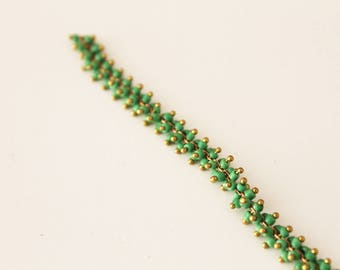 20 cm chain with seed beads