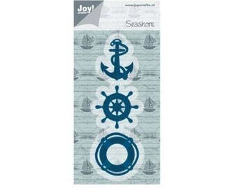 Die cut Joy Crafts sailor anchor buoy new bar