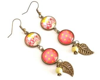 Tangy #Printemps pendants earrings.