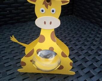 Box dragees theme here jungle giraffe box + ball plexi