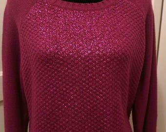 Plum Sparkle Thread Sweater