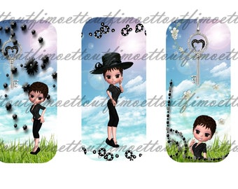 3 digital bookmarks miss chic and nature(envoi mail)