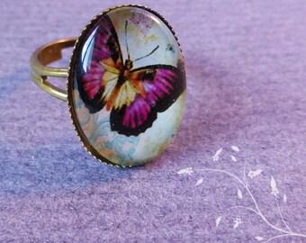 Bronze ring adjustable retro tie-