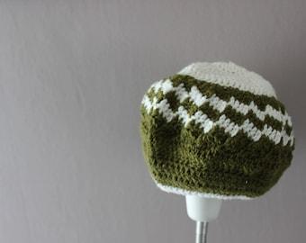 Wool mixed patterned crochet Hat