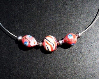 Multicolored glass beads