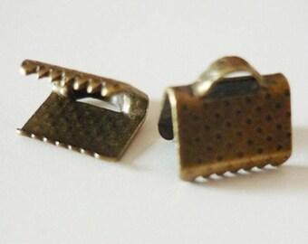 Set of 10 claws bronze 08mm - bronze
