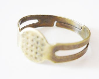 Lot 100 Supports ring adjustable silver metal