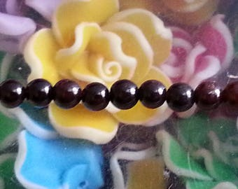 5 beads 4 mm in diameter, hole 1 mm