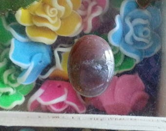 1 cabochon of agate with hues of 20x15mm