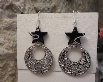"Hoop earrings ""collection black & white"""