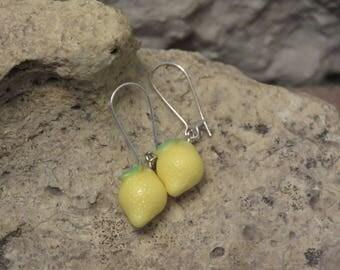 "Collection""fruity"" lemon Stud Earrings"