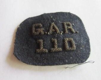 19th C Antique Civil War Gar 110 Hat Device Patch Wow