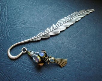 Dress charm and bead bookmark