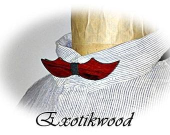 Bow tie mustache Cocobolo wood