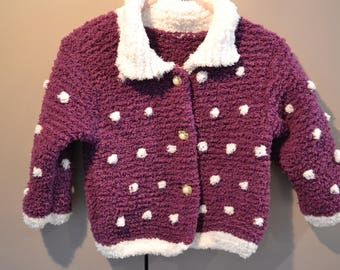 12 months purple and white jacket