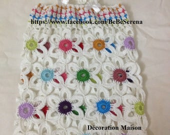 """Dress short strap"" flower garden ""crochet 2-4 years"