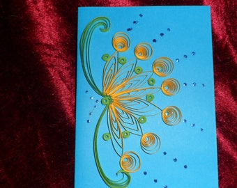 card quilling personalized modern flower pattern
