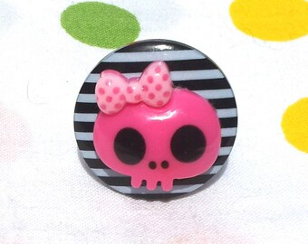 """Ring """"Miss Pirate"""" black / pink, series """"all aboard!"""""""