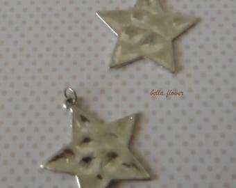 Silver Star 4 cm pendant