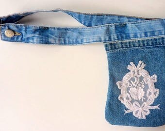 Special recycled jean Pocket travel model Columbia