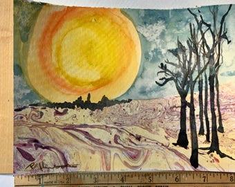 Moon Shine Magic miniature painting OOAK