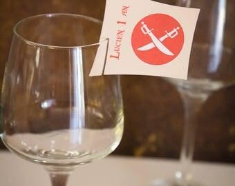 Set of 5 brand glass - Pirate Theme - birthday or christening