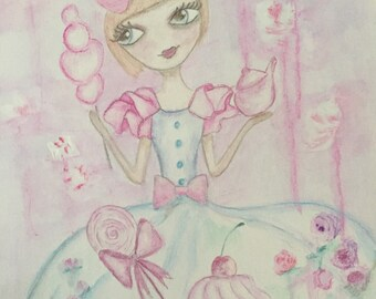 """Lilirose cupcakes"" watercolor pretty so shabby"