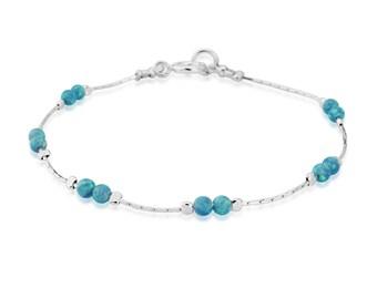 Silver and Aqua Opal Bracelet