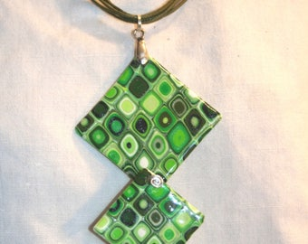 Necklace 3 green squares
