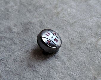 Silver brooch, recycling, video button brooch pin