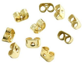 Push backs for stud earrings - gold plated (30 pieces)