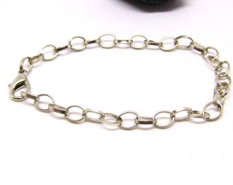 charm bracelet silver large ring adjustable by 1 or 5 pieces