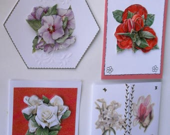 Challenge an extraordinary Garden 5 3d or 5 hand made embossed cards