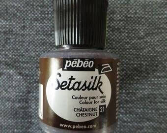 Setasilk 45 ml collar Pebeo silk paint color. Chestnut #21