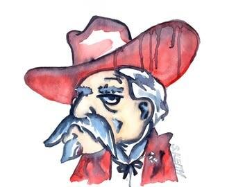 Colonel Reb watercolor