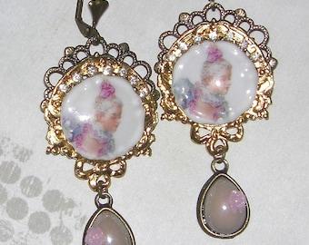 Countess retro earrings